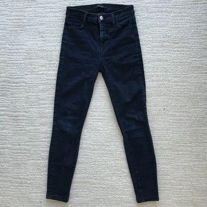 J Brand High Rose Indigo Skinny Denim Jeans 25 26
